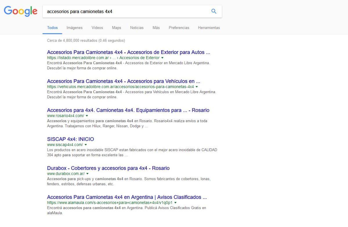 Posicionamiento Web Rosario 4x4