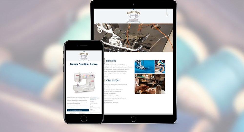 diseño web y posicionamiento web para Cancellieri