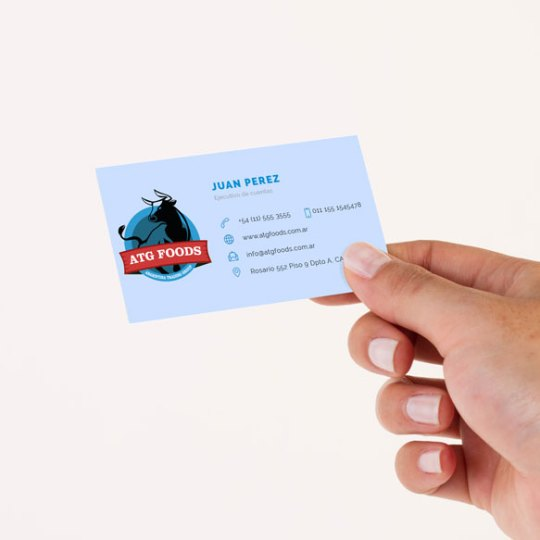 Diseño de tarjeta para ATG Foods