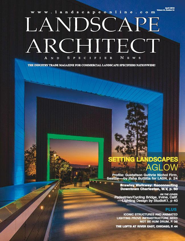landscape architecture news April 2018 cover
