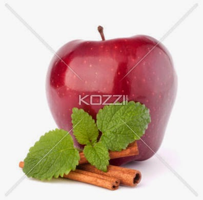 Red Apple, Cinnamon Sticks And Mint Leaves Still Life