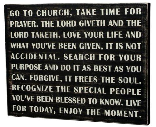 Box Sign Go To Church