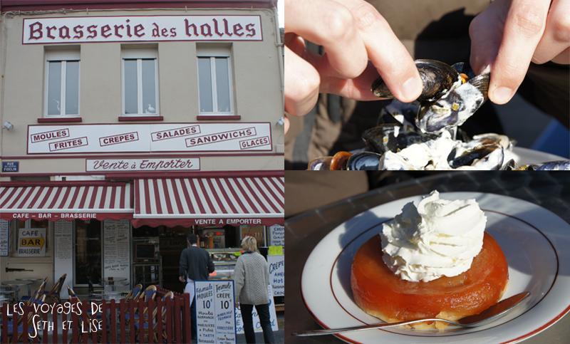 blog voyage seth lise moules normandes tarte brasserie