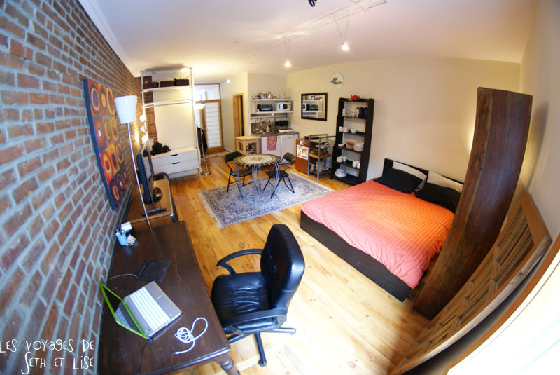 blog voyage canada pvt montreal backpacker appartement studio house retro vintage style fashion