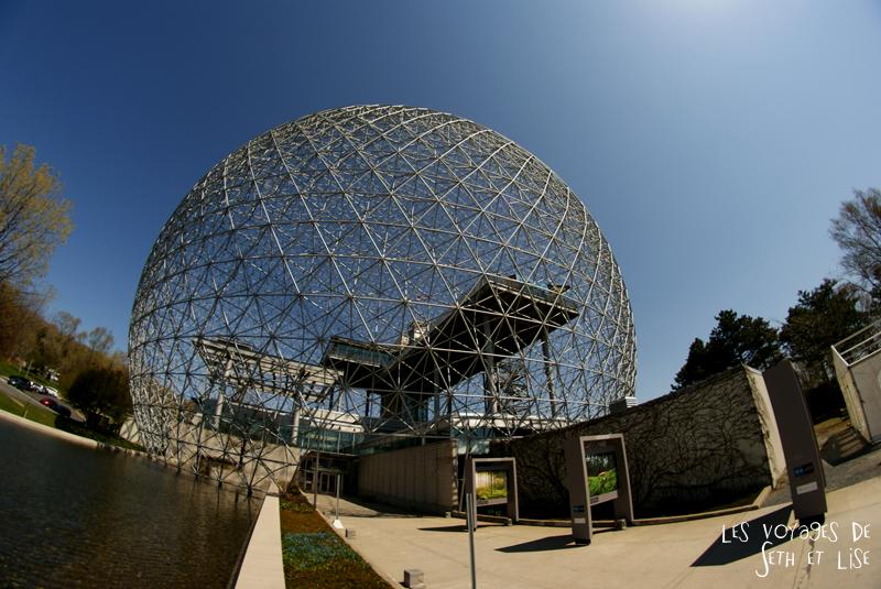 blog pvt canada montreal couple voyage biosphrere biodome parc jean drapeau st helene