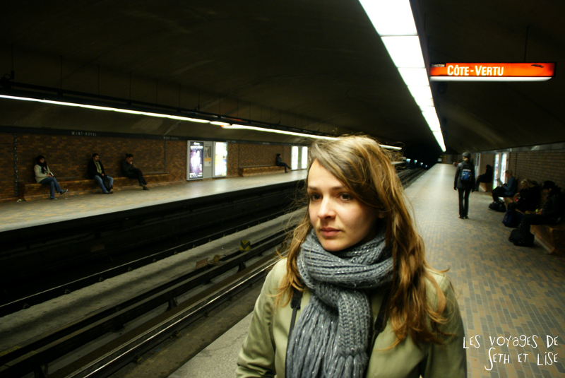 blog pvt canada montreal couple voyage metro lise portrait quai