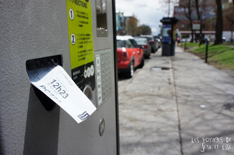 blog voyage canada pvt montreal parcmetre surprise ticket stationnement