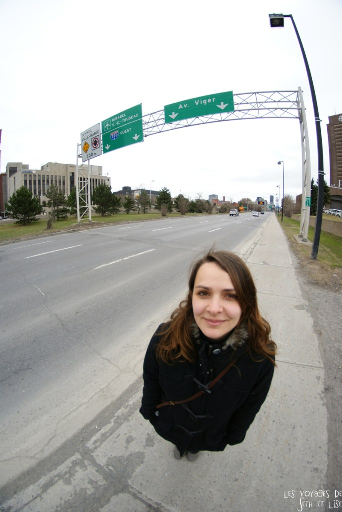 blog voyage canada montreal pvt viger avenue road street portrait cute girl
