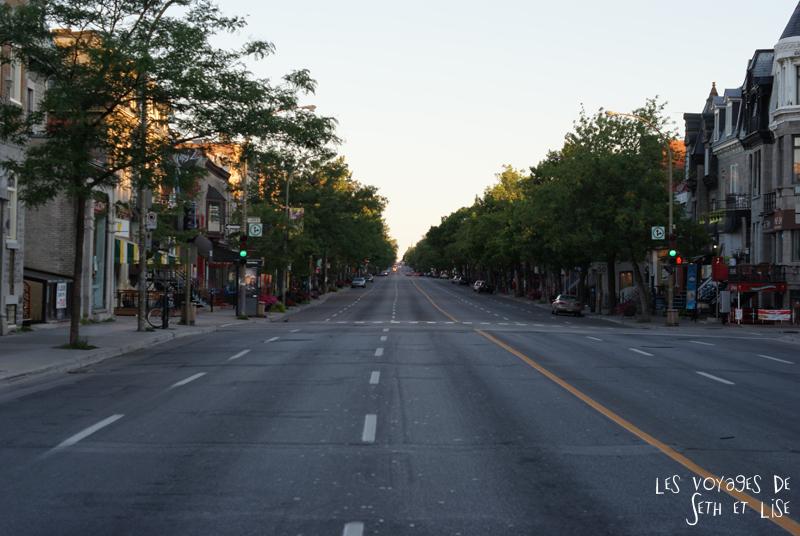 blog canada montreal pvt seth lise photo sunrise urbain soleil crépusucle rue perspective street empty vide desert apocalypse