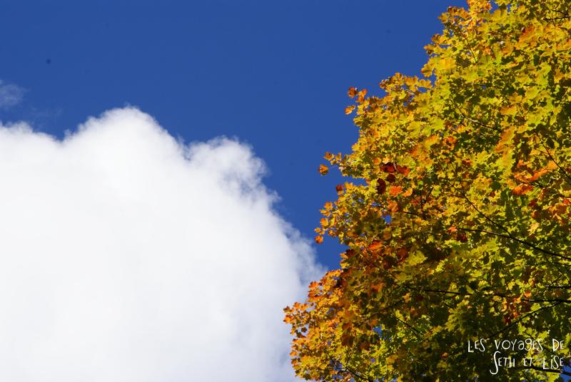 blog pvt canada pvtiste quebec mont orford parc photgraphie voyage couple ete indien summer indian couleur colors nature tour du monde nuage soleil