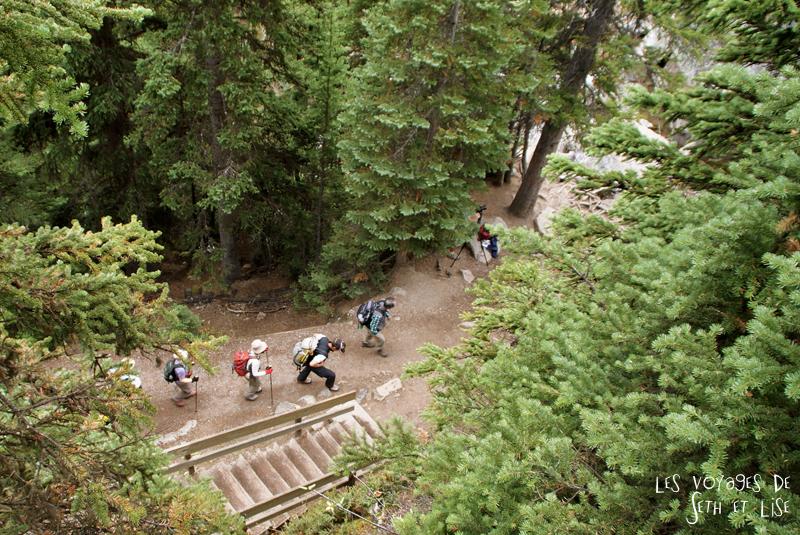blog pvt photographie pvtiste canada alberta rocheuses rockies moutains voyage montagne couple tour du monde nature parc national lac lake rando