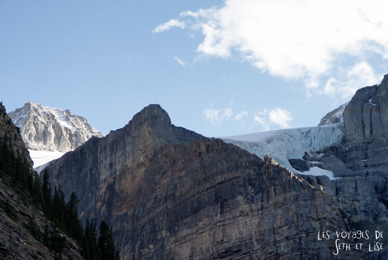 blog photogaphie pvt pvtiste canada alberta rocheuses montagne couple voyage tour du monde paysage nature lac lake glacier moraine