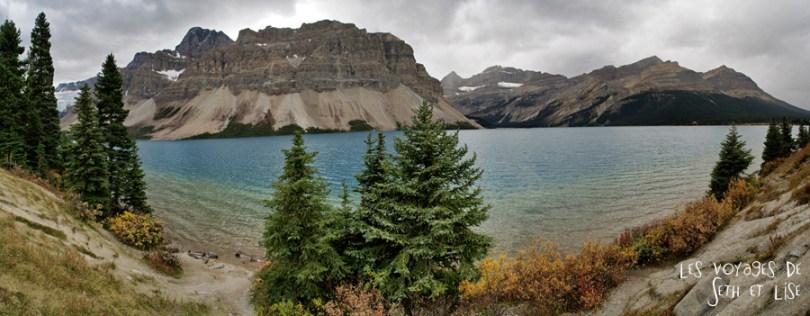blog pvt photographie pvtiste canada alberta rocheuses rockies moutains voyage montagne couple tour du monde nature parc national lac lake pano lac rocheuse