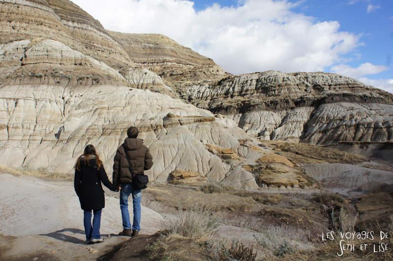 Les badlands, terre des dinosaures canadiens