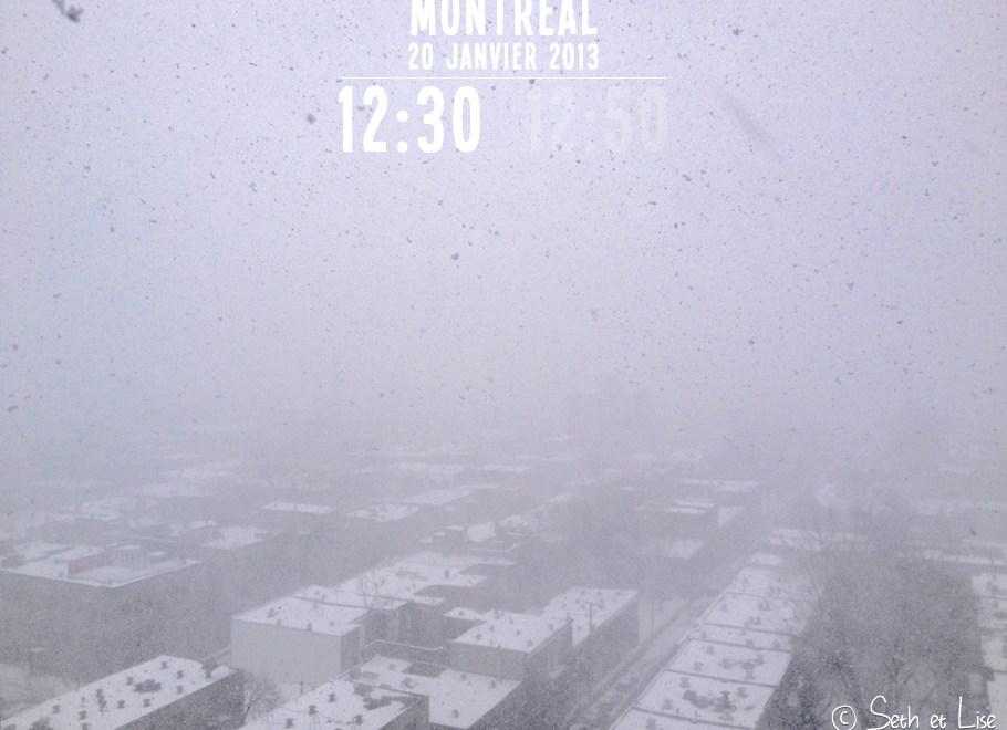 Le climat changeant de Montréal