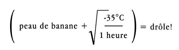 equation banane
