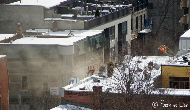 blog voyage canada pvt photo seth lise montreal firefighter pompier incendie bbq