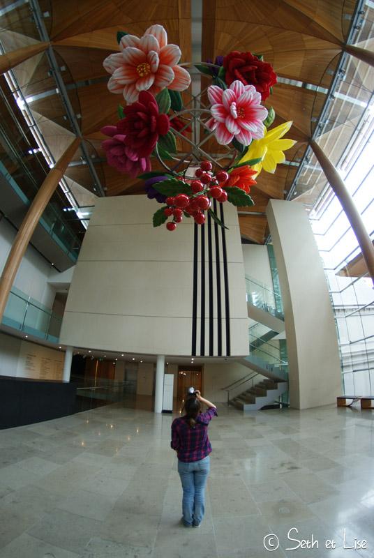 blog voyage nouvelle zelande whv auckland city art gallery flower