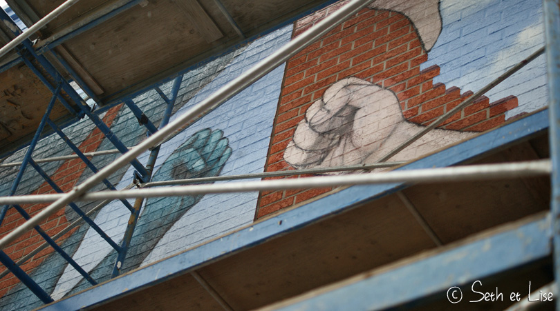 hands mural