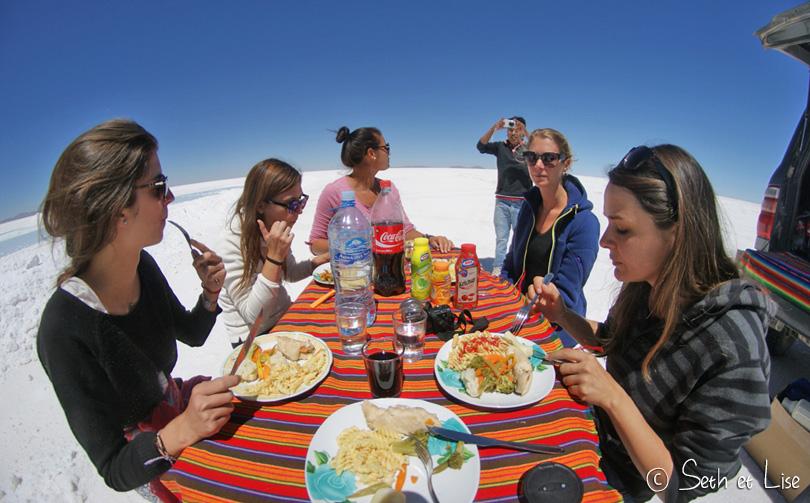 salar uyuni bolivia lunch group