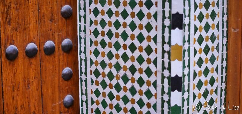 porte mosaique architecture de fes maroc