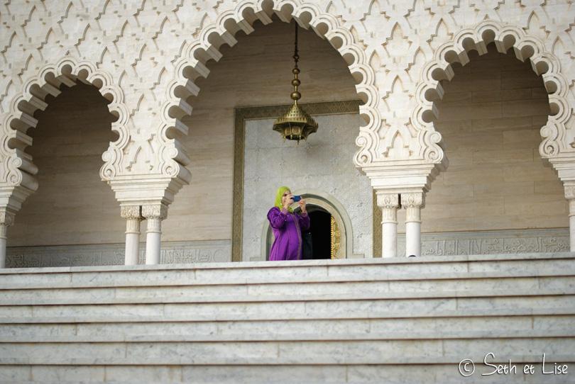 mur mausolée mohammed V rabat