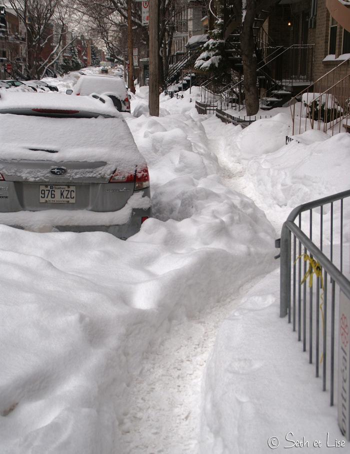 trottoir hiver montreal