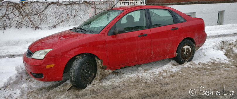 voiture rouille hiver