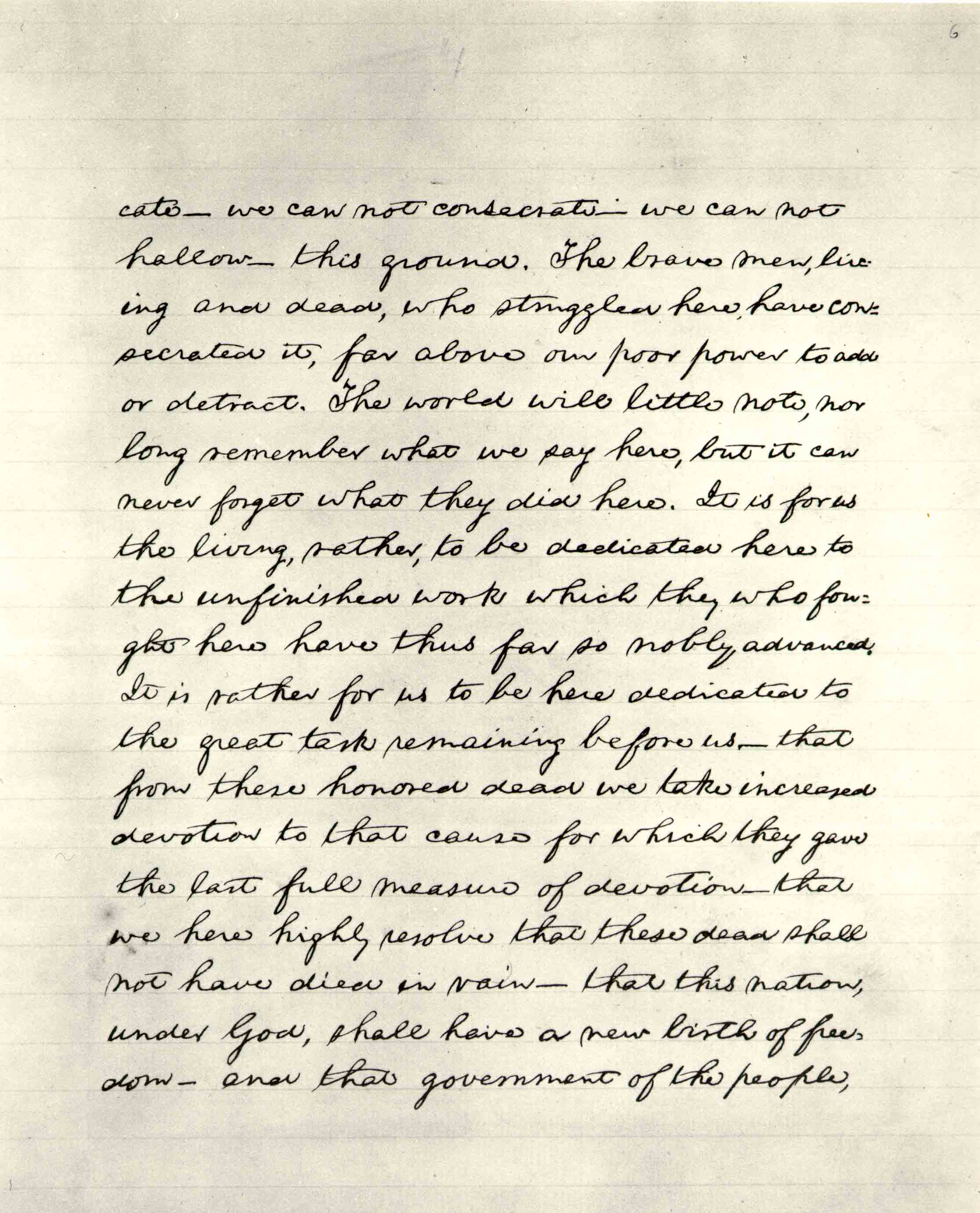 Lincoln S Final Text Of The Gettysburg Address