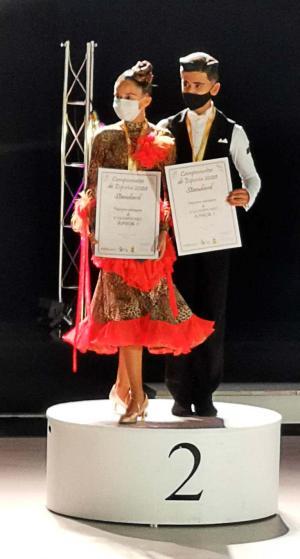 Toni Melià i Mar Roig, subcampions d'Espanya de ball esportiu