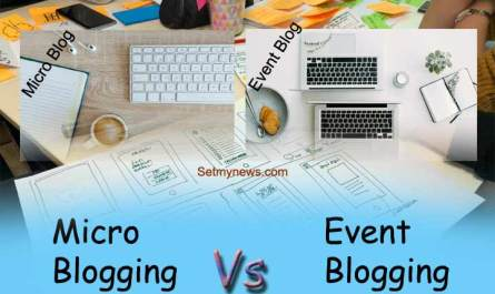difference between micro blogging and event blogging