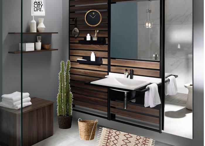 une salle de bains ethnique chic