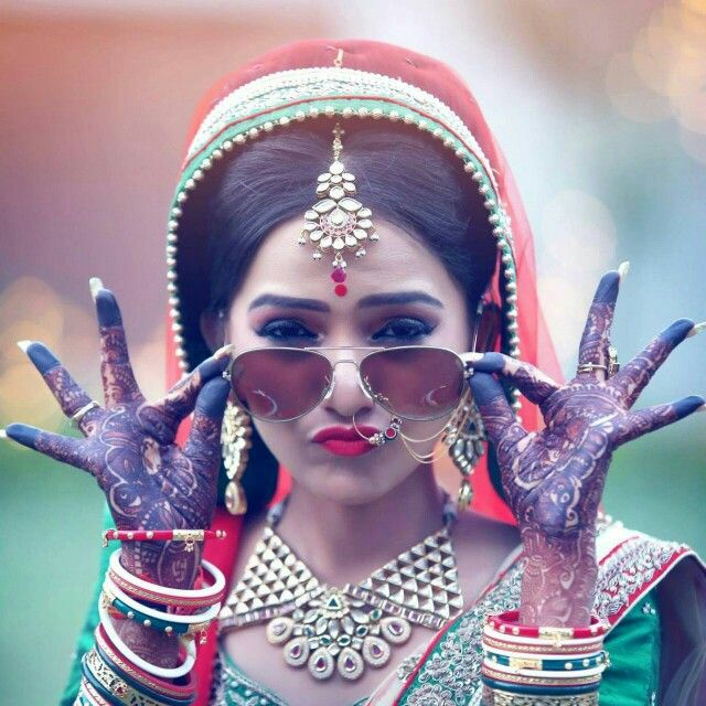 bride with goggles