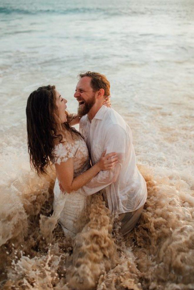 viral beachside wedding photoshoot in hawaii