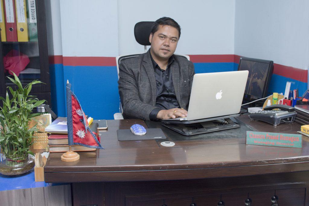 चन्द्र हुमागाई प्रबन्ध निर्देशक इन्टेरियर पोइन्ट्स प्रा.लि