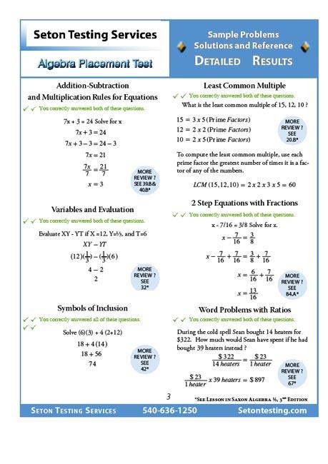 Test Report Practice Sample Sat