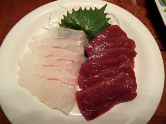 Whale and Sea Bream Sashimi