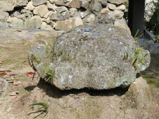 Iwaseo Hachiman-gū - turtle stone
