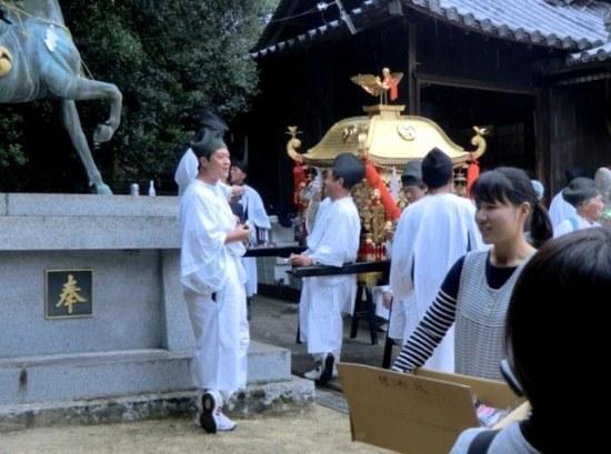 Getting Ready for the Matsuri in Karato on Teshima