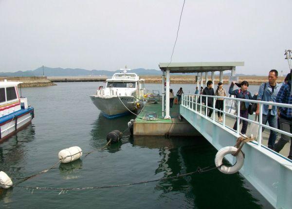 Arrival at Ieura Port on Teshima