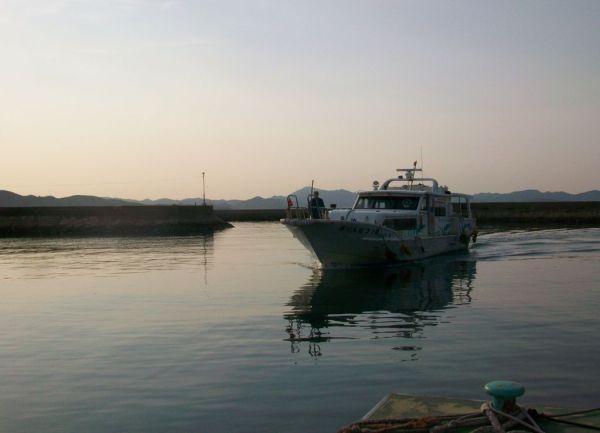 Artline Boat in Ieura Port on Teshima