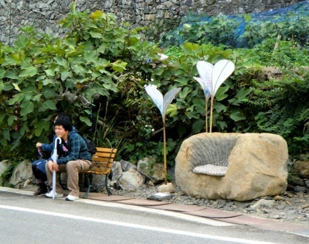 Bus stop in Karato, Teshima