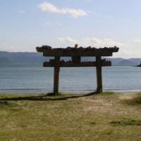 Torii on Naoshima's Beach