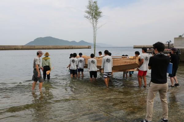 Traditional Japanese Boat Launching  - 1