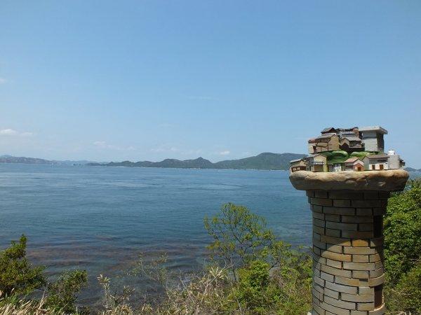House of Light on Ogijima with Seto Inland Sea and Teshima in the background