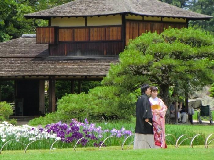 Bride and Groom in Korakuen - 1