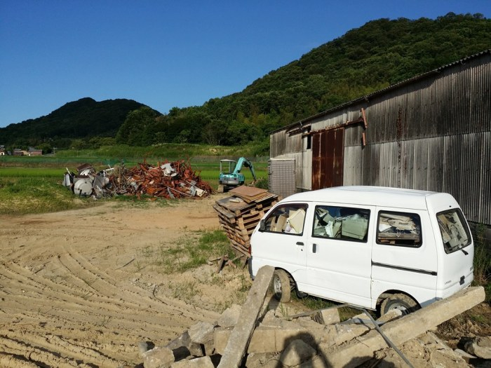 Junkyard in the Japanese countryside