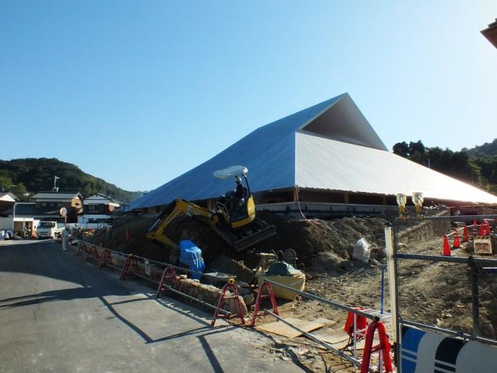 Naoshima Hall under construction