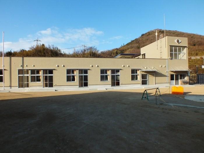 Ogijima's new school is almost complete.