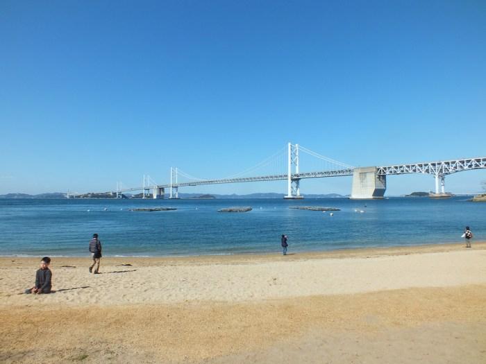 Great Bridge of Seto from Shamijima
